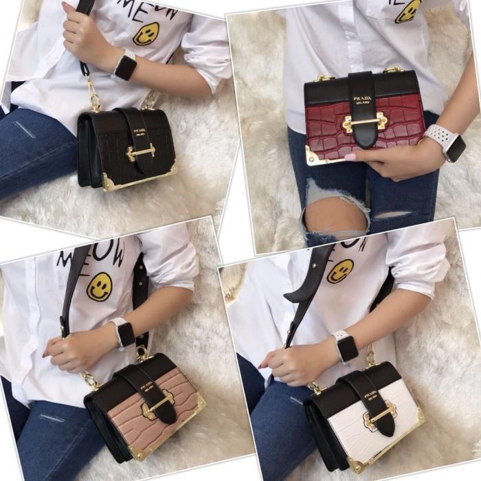 [prada cahier croco bag 910] tas fashion wanita impor murah