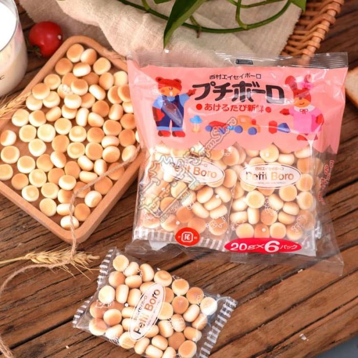 harga Nishimura petit boro [egg boro] [6 mini pack x 20 gram] [biskuit bayi] Tokopedia.com