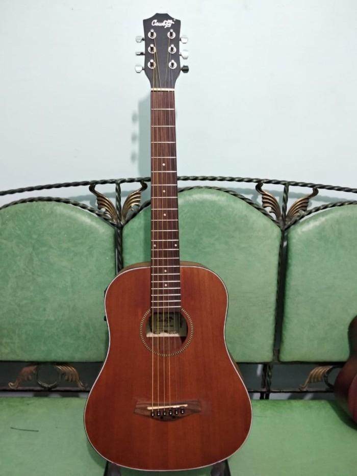 harga Gitar akustik elektrik cowboy 3 per 4 brown eq toner aw-33 murah Tokopedia.com