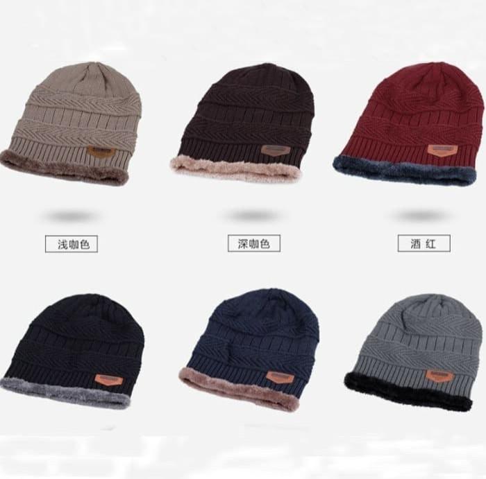 Jual kupluk rajut beanie topi pria import murah topi winter lembut ... 978b42b657