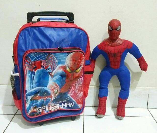 harga Paket kado hadiah tas troli trolley anak boneka spiderman murah Tokopedia.com