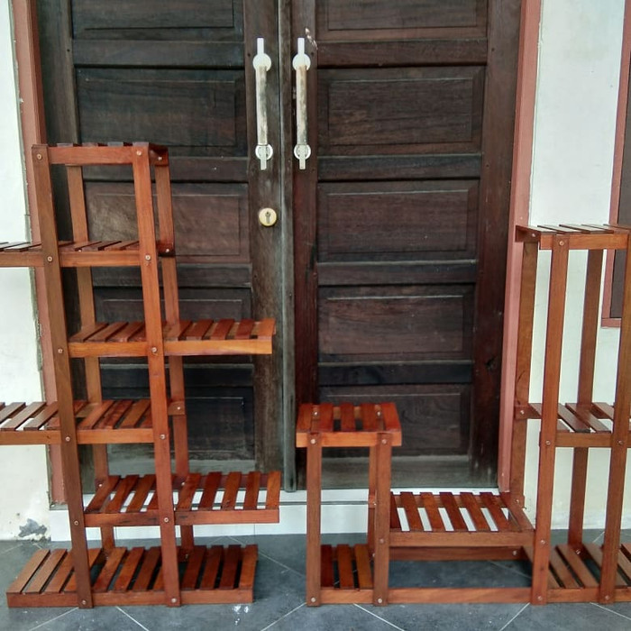 Jual Rak Bunga Kayu Ulin Borneo Kota Banjarbaru Sandy Galery Tokopedia