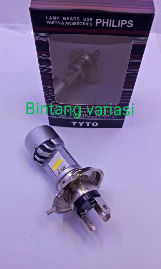 harga Lampu led depan h4 philips vixion / scoopy new / cb150r Tokopedia.com