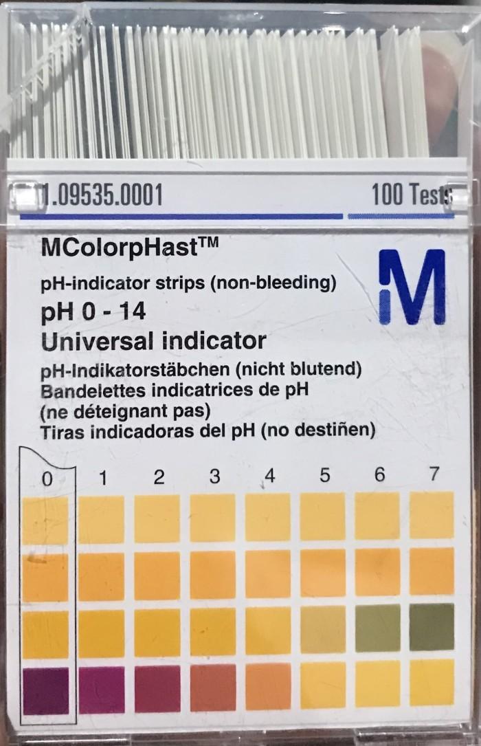 Merck Universal pH Paper / Kertas pH/ pH indikator/ Lakmus 0-14 109535
