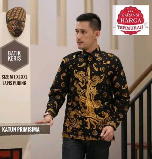 harga Batik solo kemeja pria keris jumbo batik amanah surakarta Tokopedia.com