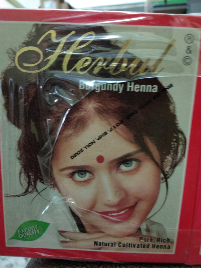 Jual Henna Burgundy Herbul Cat Rambut Neo Beauty Shop Tokopedia