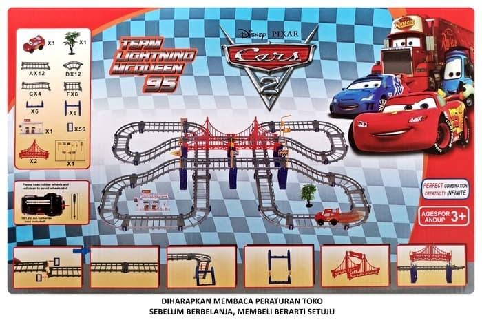 jual diskon super track cars set  team lightning