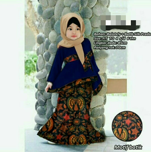 Jual Baju Gamis Anak Kebaya Kombinasi Batik Balotely Hijab Anak Perempuan Dki Jakarta Riska Mymarket Tokopedia