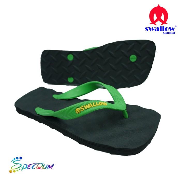 sandal swallow premium spectrum pria black – tali hijau - hitam 40