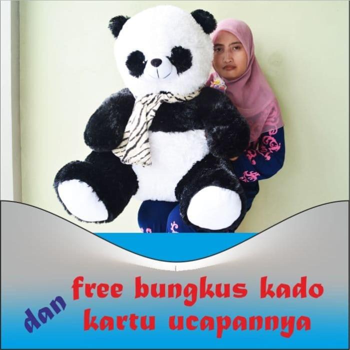 Jual Boneka Panda Syal Besar Jumbo Original 80 cm Murah ...