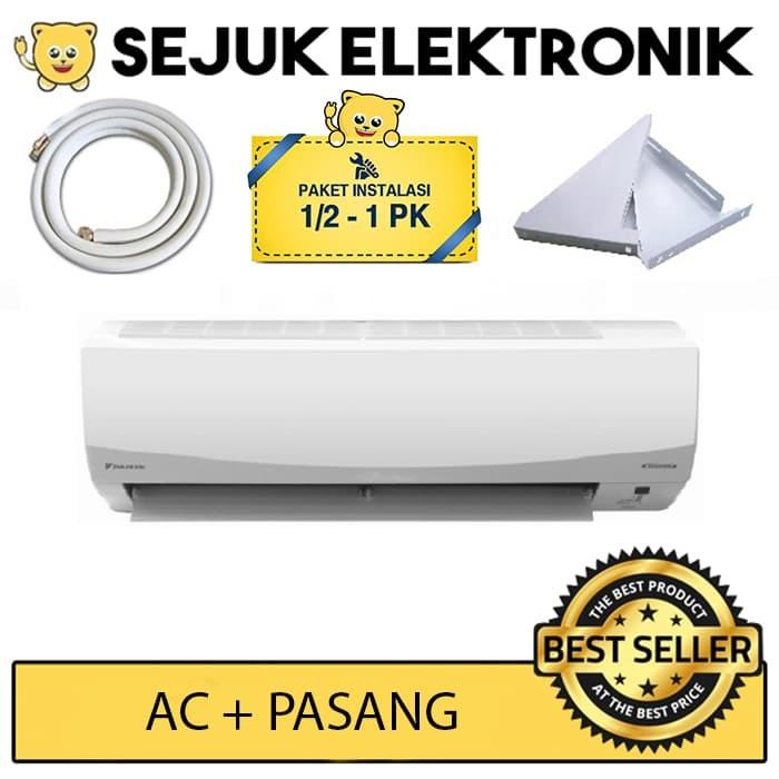 harga Daikin ftkc15pvm4 + psg 0.5 3m / ac split smile inverter - putih 1/2pk Tokopedia.com