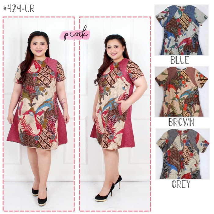 harga 424ur dress batik super jumbo bigsize baju atasan wanita big size Tokopedia.com