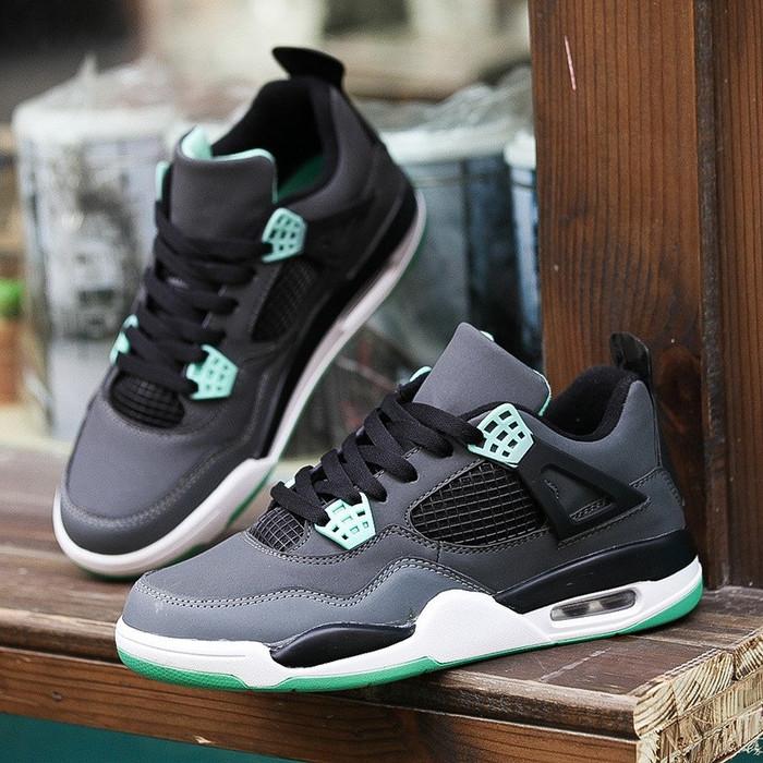 7bdc040ce93bdb Jual Nike Air Jordan 4 Retro Hi Dark Grey Green Glow - Struggle ...
