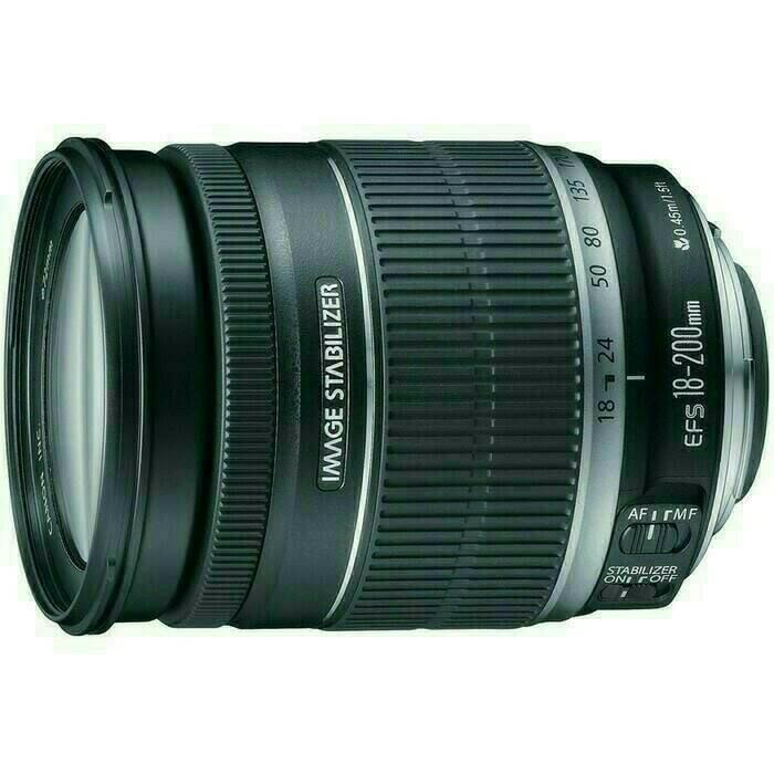 Foto Produk lensa canon EFS-18-200mm f/3.5-5.6 - Hitam dari X ONE CAM