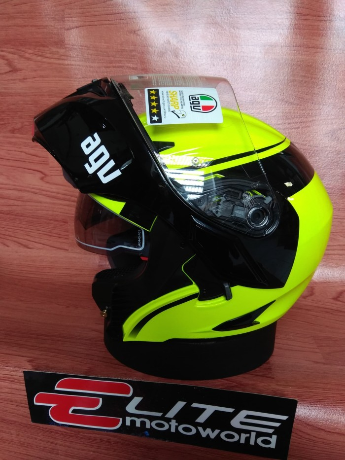 Helm AGV Compact Course Yellow (Helm Modular / Flip Up) 1