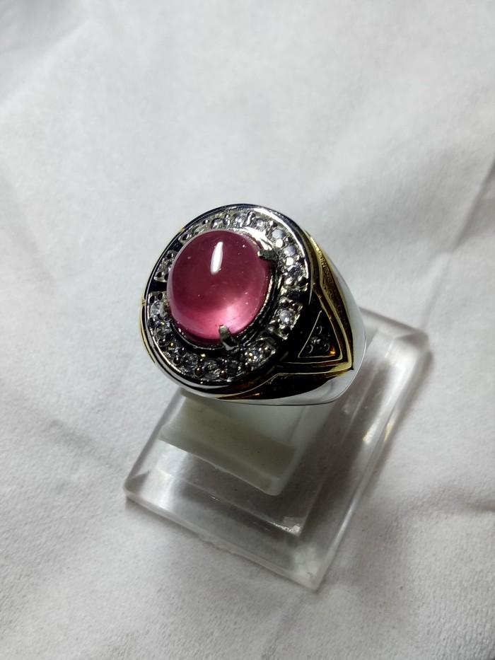 harga Perhiasan batu cincin natural ruby merah delima corundum like burma Tokopedia.com