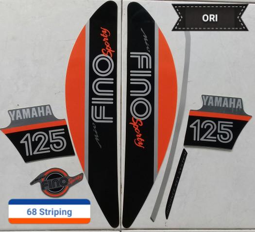 harga Stiker striping yamaha mio fino 2017 grey original Tokopedia.com