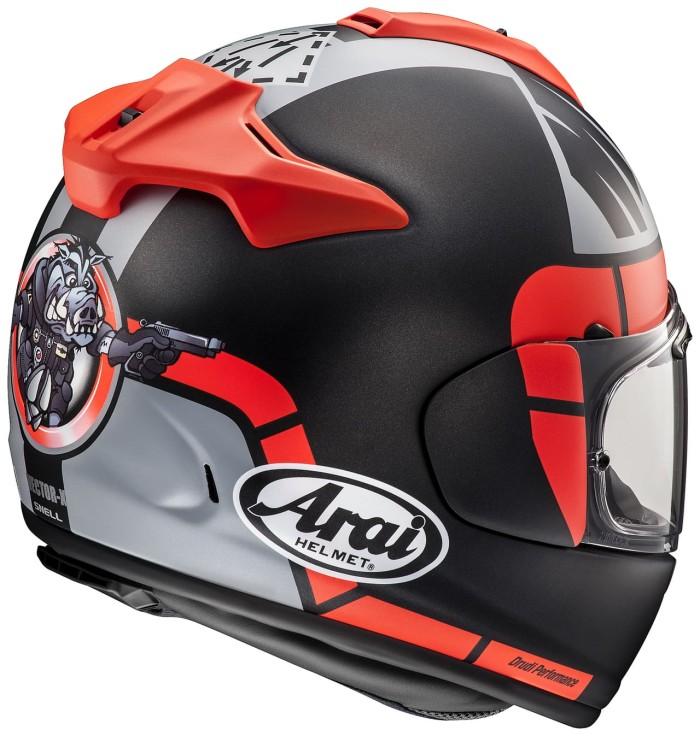 Arai Vector-X Maverick GP Helm Full Face - Black Red 1