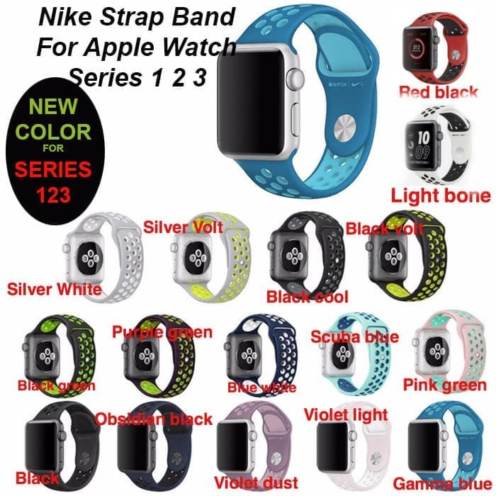 Foto Produk Apple Watch iWatch 38/40mm Nike Sport Strap Band Premium series 1-4 dari Pro Glass