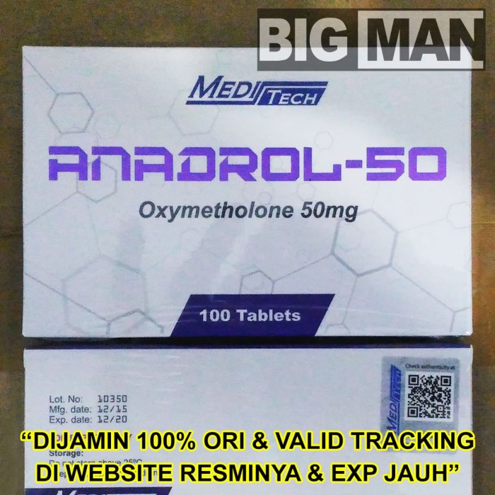 Jual Anadrol Meditech 100 Tabs Tablets 100Tabs Oxymetholone 50 mg ORIGINAL  - Jakarta Utara - BIG MAN | Tokopedia