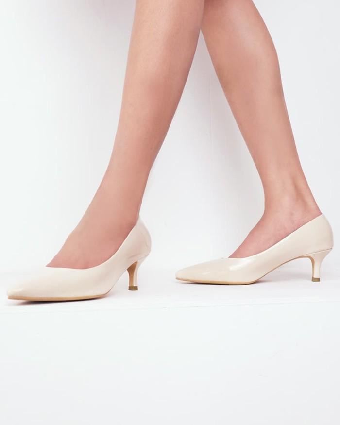 Amazara aurora nude glossy heels - ivory 37