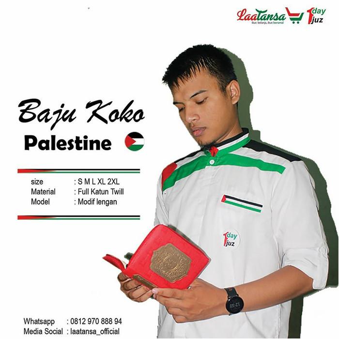 Jual Kemko Baju Koko Palestine Palestina Keren Adem Dan Murah Hitam