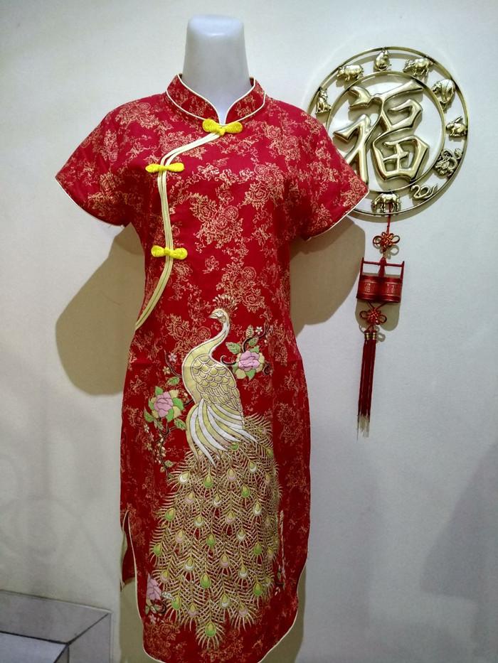 harga Baju cheongsam dewasa / dress imlek setelan sincia shanghai remaja Tokopedia.com