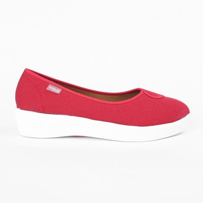 harga Wakai plush basic red sepatu wedges (wak0002852.a600) - merah 40 Tokopedia.com