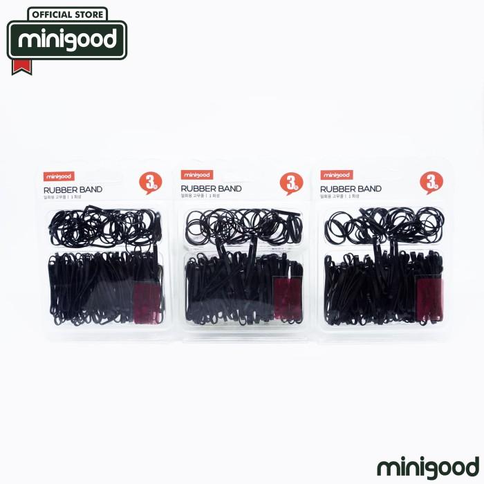 harga Minigood hitam karet gelang rubber band ikat rambut elastis 86706 Tokopedia.com
