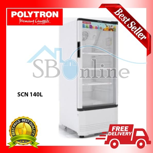 harga Showcase polytron scn-140l harga pabrik Tokopedia.com