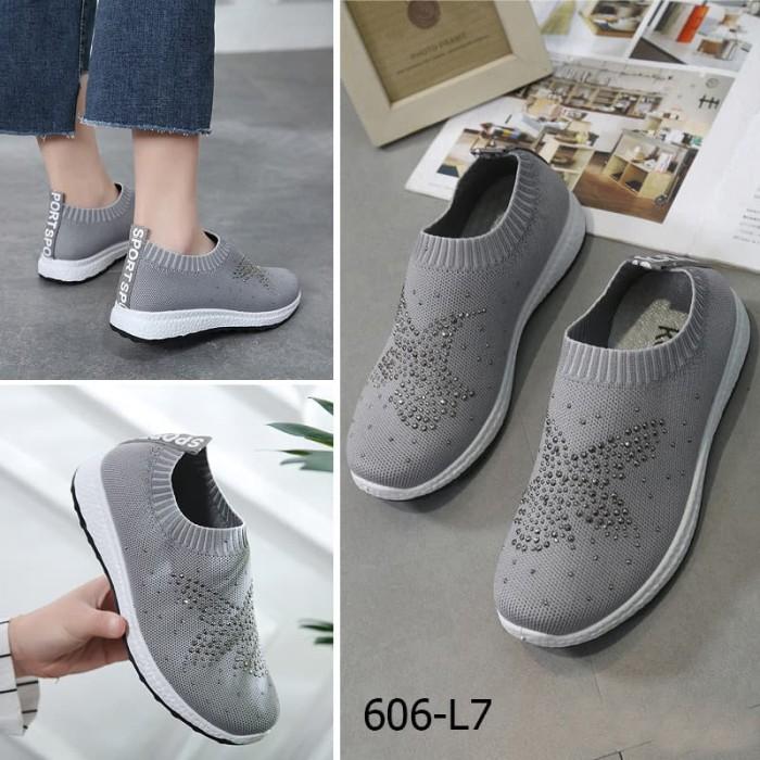 harga Sepatu kelsey 606-l7 slip on fly knit original ori batam wanita Tokopedia.com