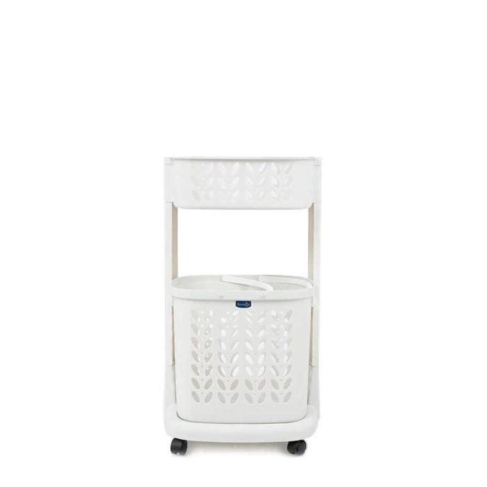 harga Rovega keranjang pakaian plastik premium laundry basket 2 level putih Tokopedia.com