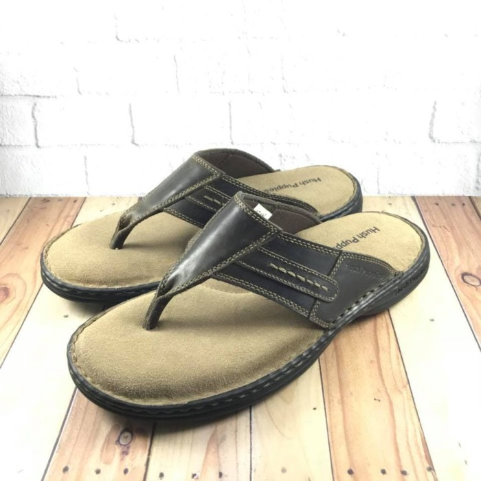 harga Sandal pria hush puppies barocco thong darkbrown  original Tokopedia.com