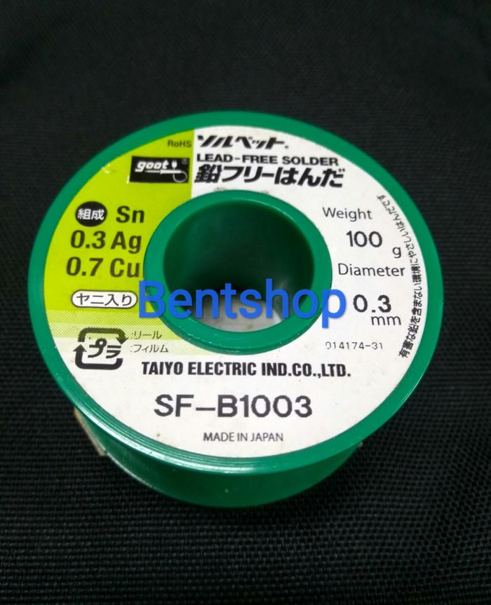 harga Timah solder goot sf-b1003 lead-free 03mm 100gram Tokopedia.com