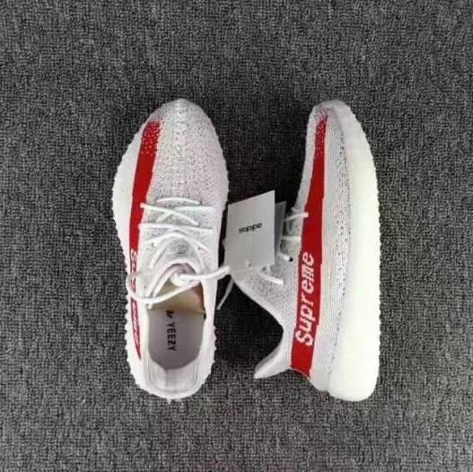 66588e7092cc0 Jual sepatu adidas yeezy boost 350 v2 white red supreme putih merah ...