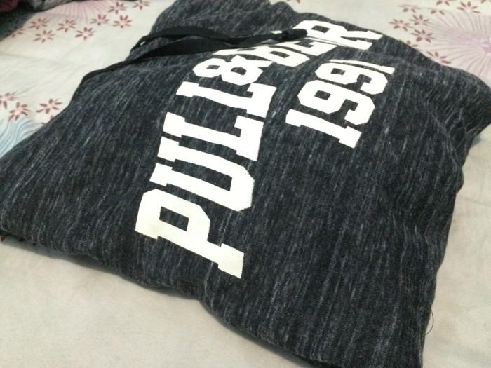 harga Sweater hoodie pull and bear hitam misty Tokopedia.com