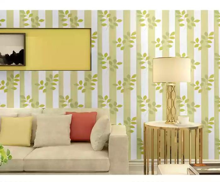jual wallpaper sticker dinding daun garis line walpaper stiker murah