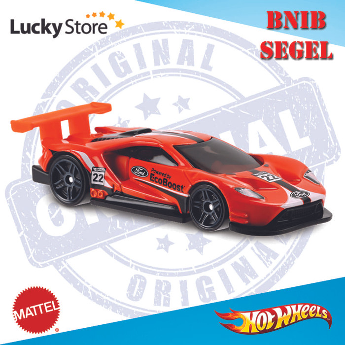 Ford Gt Race Jingga Orange Hw Hot Wheels Hotwheels D