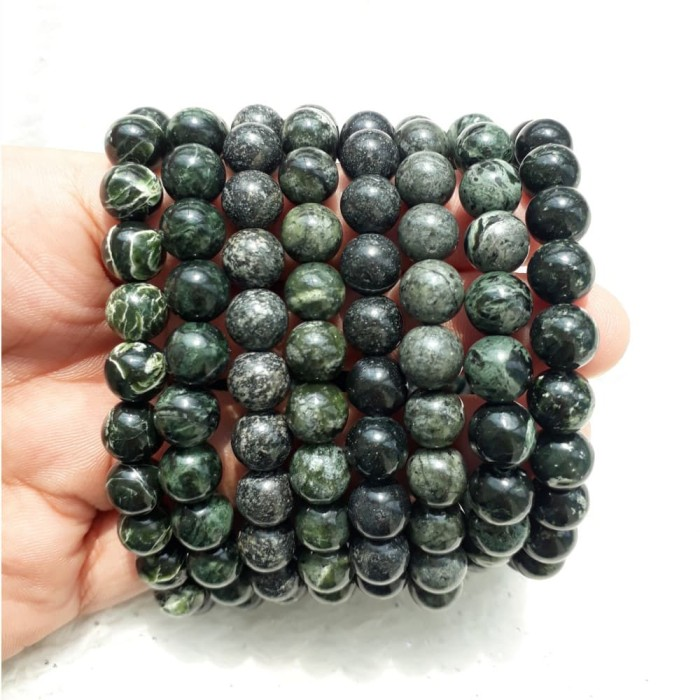 A Kha Paket Kalung Dan Gelang Black Jade 8mm 100 Batu Alam Daftar Source · Paket