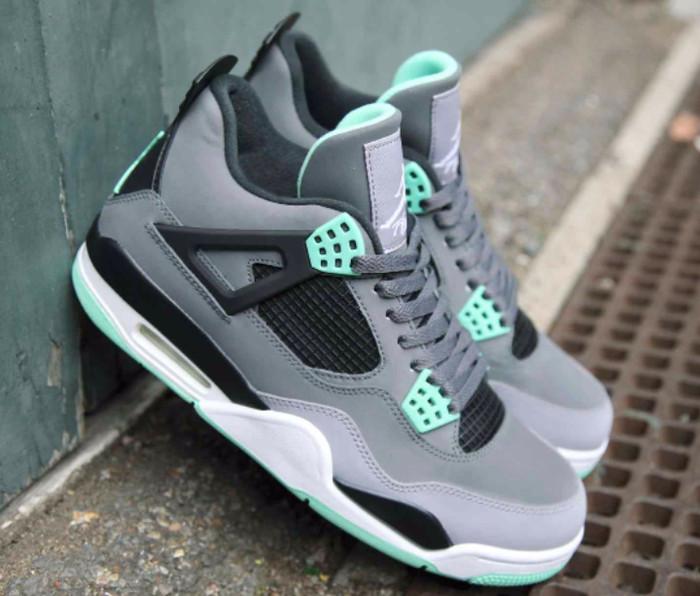 lowest price 2cbbe 6b87f Sepatu Sneakers sepatu Basket Air Jordan Retro 4 Green Glow