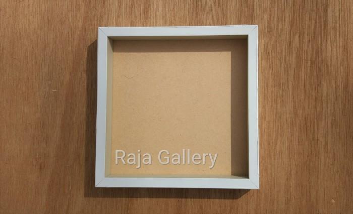 harga 20x20cm model box - frame / bingkai foto hitam / putih 3cm. Tokopedia.com