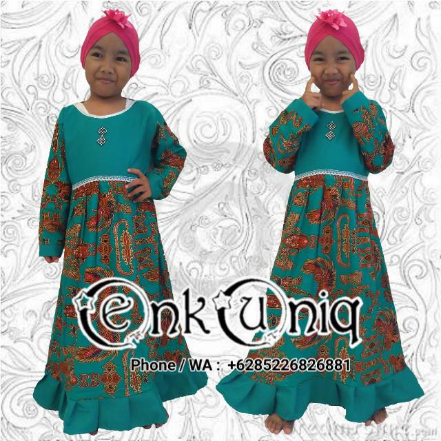 Jual Gamis Batik Anak Dress Anak Batik Busana Muslim Batik Gasml