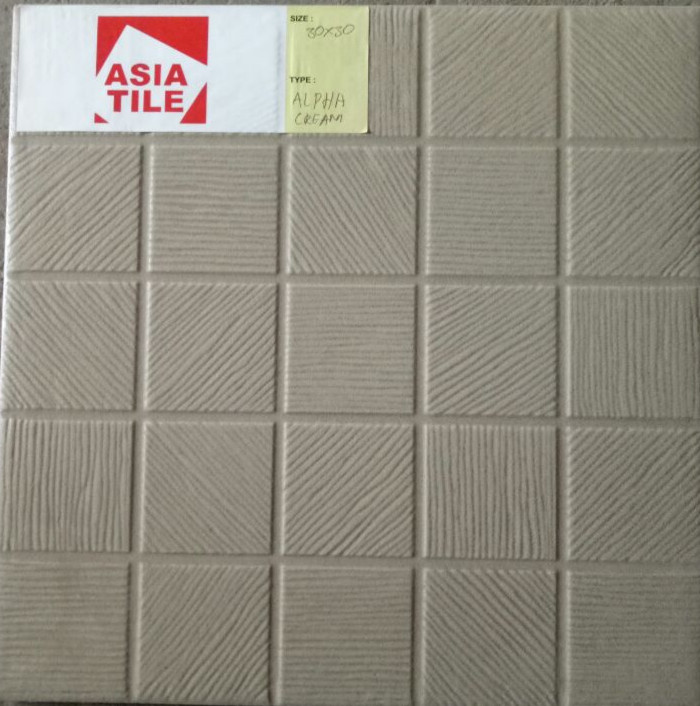 Asia Tile Alpha Cream Kw A Uk 30x30cm