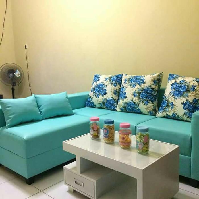 Jual Sofa L Putus Sofa Ruang Tamu Hitam Kota Tangerang Selatan