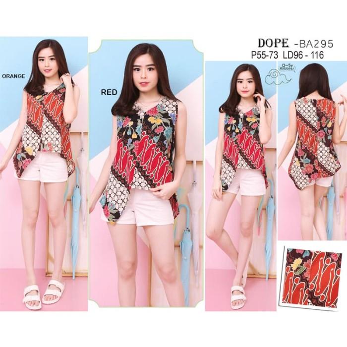 DOPE TOP - Atasan Batik Blouse Batik Modern Wanita Cheongsam Premium H 4199adc7d8