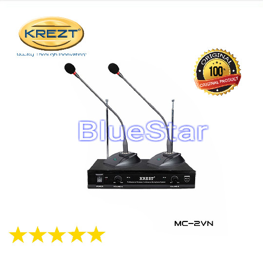 harga Microphone mic wireless podium krezt mc 2 v 1set 2 mic Tokopedia.com