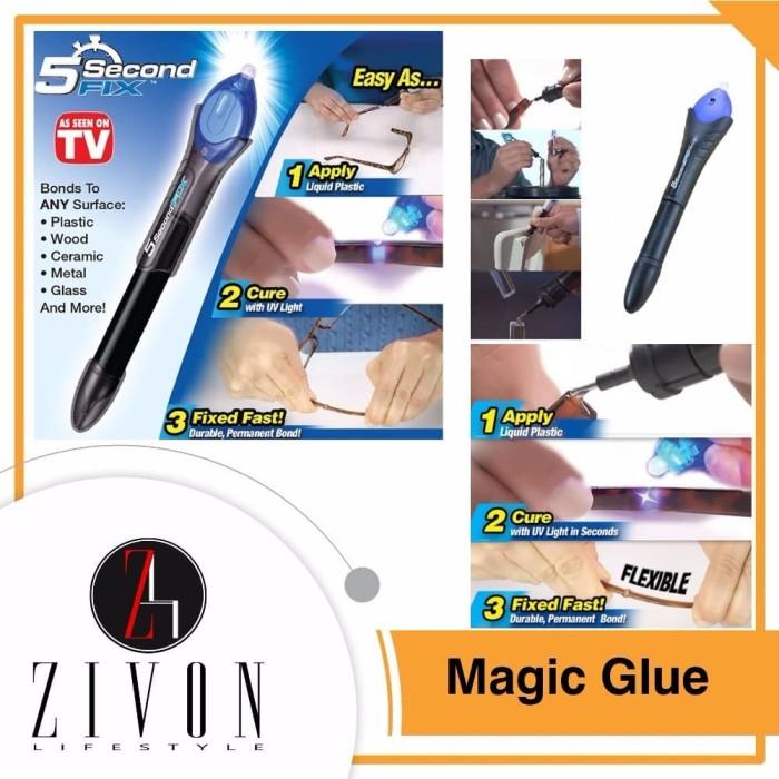 BERKUALITASSSSS Power Tool 5 Second Fix Magic Glue Lem Ajaib Berbagai