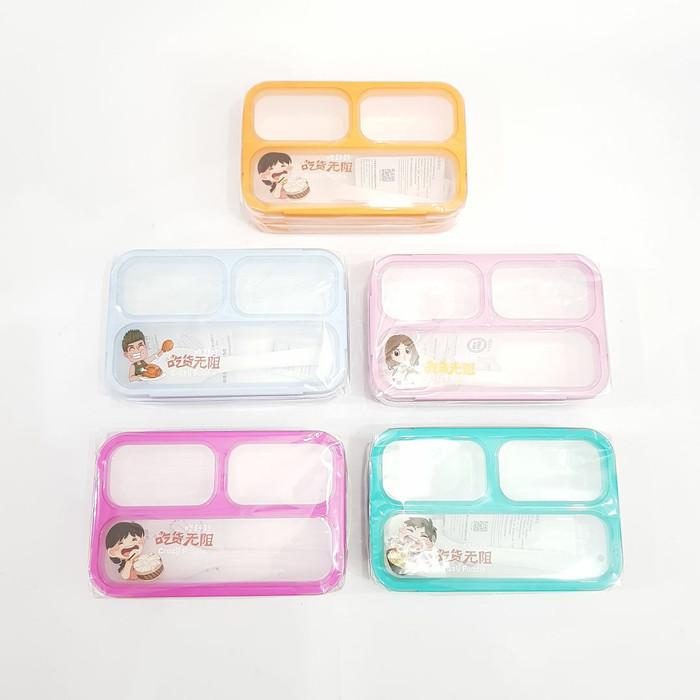 Yooyee mini sekat 3 | lunch box mini yooyee (free packing buble wrap)