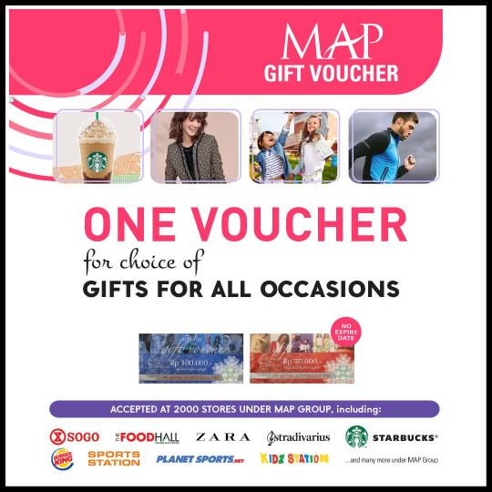 Voucher MAP Gift Voucher Nominal 100.000 / 100000 / 100rb