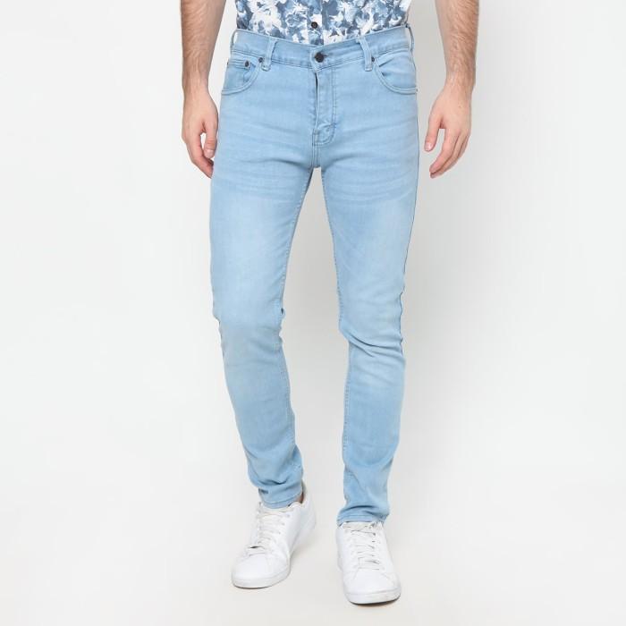 Mentli Celana Jeans Pria Skinny - Blue Sky